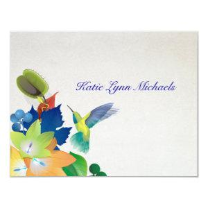 Hummingbird Personalized Notecard starting at 2.26