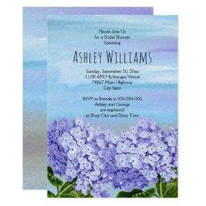 Hydrangeas watercolor floral wedding bridal shower invitation starting at 2.55