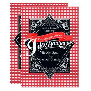 I DO BARBECUE BBQ Red White Checkered Engagement Invitation starting at 2.71