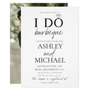 I DO BBQ Black & White Simple Script Photo Shower Invitation starting at 2.40