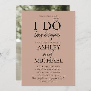 I DO BBQ Blush Brown Simple Script Photo Shower starting at 2.40