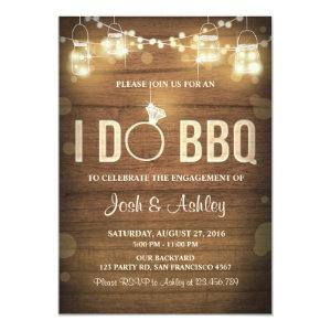 I Do BBQ Engagement Party Couples shower Rustic Invitation starting at 2.66