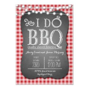 I Do BBQ Red Gingham Couples Shower in Chalk Invitation starting at 2.51
