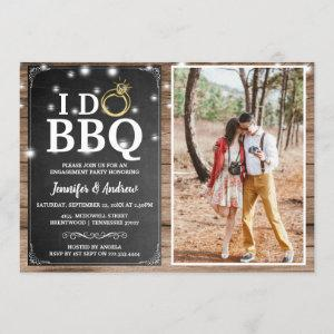 'I DO BBQ' Rustic Photo Engagement Party Invitation starting at 2.40