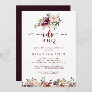 I Do BBQ Rustic Summer Floral Engagement Party   Invitation starting at 2.51