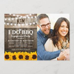 I DO BBQ Rustic Sunflower Photo Engagement Party Invitation starting at 2.51