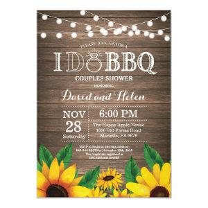 I DO BBQ Sunflower Couples Shower Rustic Invite starting at 2.35