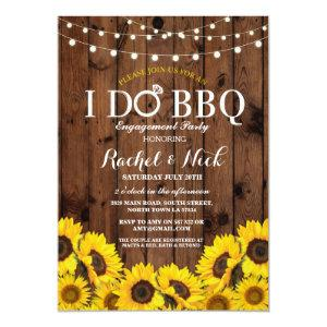I DO BBQ Sunflower Couples Shower Rustic Invite starting at 2.51