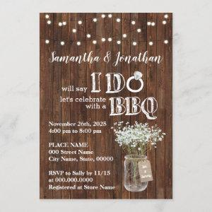 I do bbq wedding shower baby's breath rustic invitation starting at 2.55