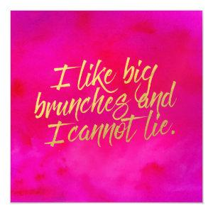 I Like Big Brunches Invitation Pearl Shimmer Paper starting at 4.10