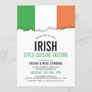 Iirish Themed Cuisine | Party Flag White Invite starting at 2.55