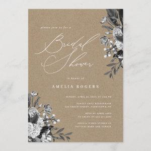 Industrial Chic Floral Rustic Kraft Bridal Shower starting at 2.40