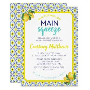Italian Lemon Main Squeeze Bridal Shower Invitation starting at 2.50