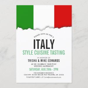 Italy Themed Cuisine | Party Flag White Invite starting at 2.55