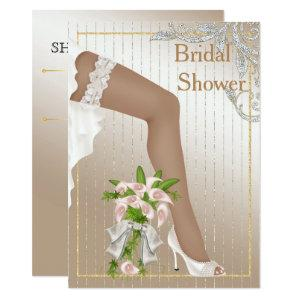 Ivory and Satin African American Bridal Shower Invitation starting at 2.21