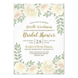 Ivory Blush Champagne Bridal Shower Invitations starting at 2.00