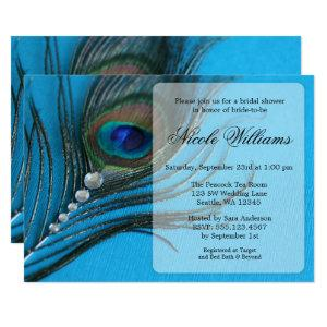 Jewel Peacock Feather Bridal Shower Invitations starting at 2.40