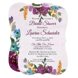 Jewel Tone Bridal Shower Invitations Watercolor starting at 2.70