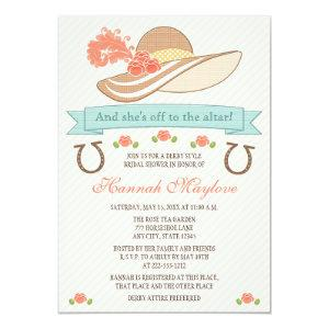 KENTUCKY DERBY HAT BRIDAL SHOWER INVITATION starting at 2.82