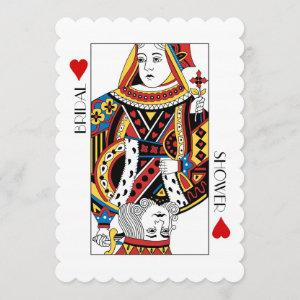 King & Queen of Hearts Casino Bridal Shower Invitation starting at 2.91