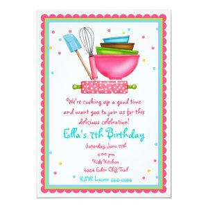 Kitchen Cooking Birthday Invitations starting at 2.82
