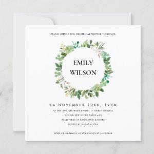 KRAFT SUCCULENT WREATH FAUNA BRIDAL SHOWER INVITE starting at 2.55