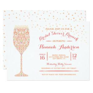 Lacy Champagne Bridal Shower Brunch Invitation starting at 2.87