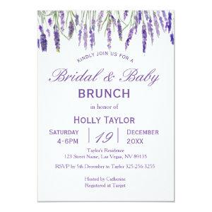 Lavender Combined Baby Shower and Bridal Shower Invitation starting at 2.66