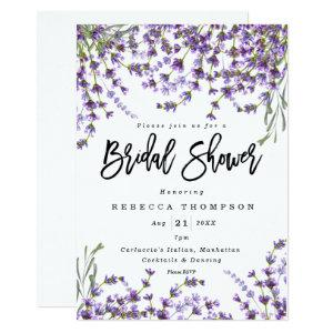 lavender florals boho modern bridal shower invitation starting at 2.56