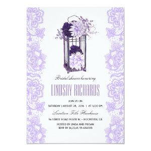 Lavender Purple Flowers Lantern Bridal Shower Invitation starting at 2.40
