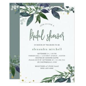 Leafy Watercolor | Bridal Shower Invitation starting at 2.66