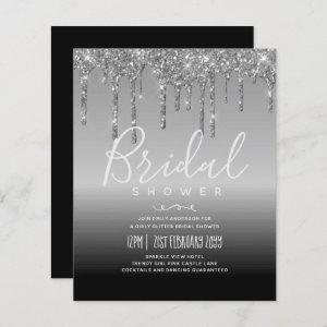 LeahG BUDGET Bridal Shower Silver Glitter Inv. starting at 0.61