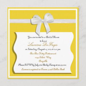 Lemon and White Bow Bridal Shower Invitation starting at 2.62