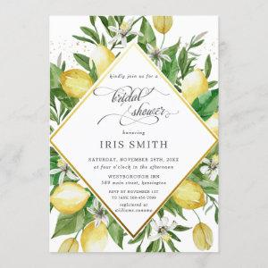 Lemon Azure Mediterranean Greenery Bridal Shower Invitation starting at 2.40