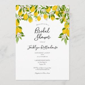 Lemon Blossom Greenery Watercolour Bridal Shower Invitation starting at 2.51