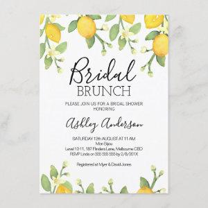 Lemon Bridal Brunch Bridal Shower Invitation starting at 2.10