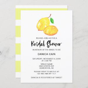 Lemon Bridal Shower Elegant Minimalist simple Invitation starting at 2.55