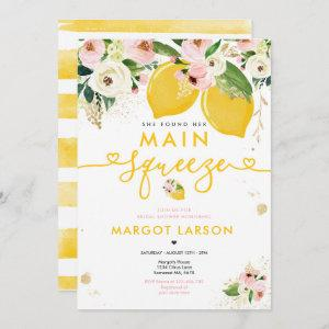 Lemon Bridal Shower Floral Lemon Main Squeeze Invitation starting at 2.61
