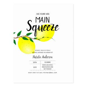 Lemon Bridal Shower Found Her Main Squeeze Invites starting at 1.20