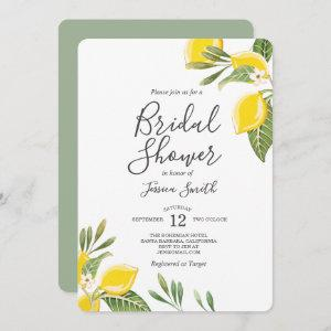 Lemon Bridal Shower Invitation Bohemian Citrus starting at 2.86