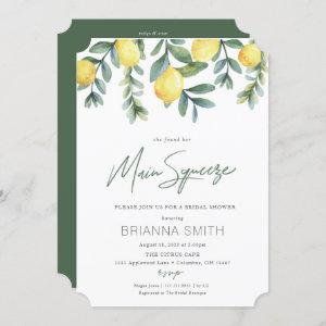 Lemon Bridal Shower invitation main squeeze starting at 2.55