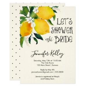 Lemon Bridal Shower, Let's Shower the Bride Invitation starting at 2.15