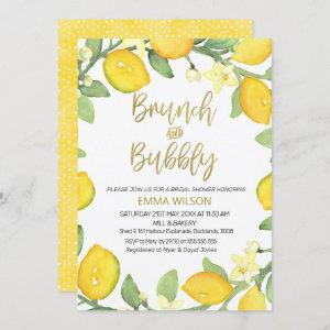 Lemon brunch and bubbly bridal shower invitation starting at 2.40