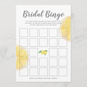 Lemon Double-Sided Bridal Bingo Shower Game Menu starting at 2.26