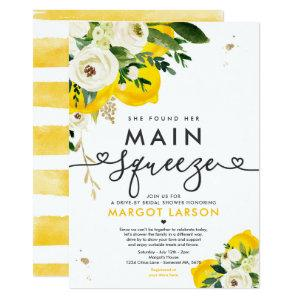 Lemon Drive By Bridal Shower Lemon Main Squeeze Invitation starting at 2.31