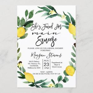 Lemon Main Squeeze Bridal Shower Invitation starting at 2.40