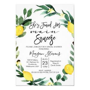 Lemon Main Squeeze Bridal Shower Invitation starting at 2.15