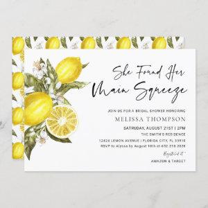 Lemon Main Squeeze Bridal Shower Invitation starting at 2.50