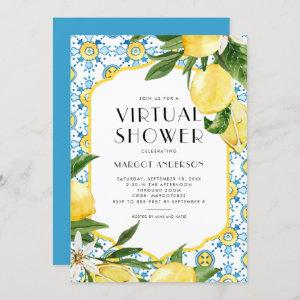 Lemon Mediterranean Theme Summer Virtual Shower Invitation starting at 2.40
