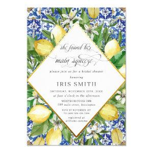 Lemon She Found Her Main Squeeze Bridal Shower Invitation starting at 2.40